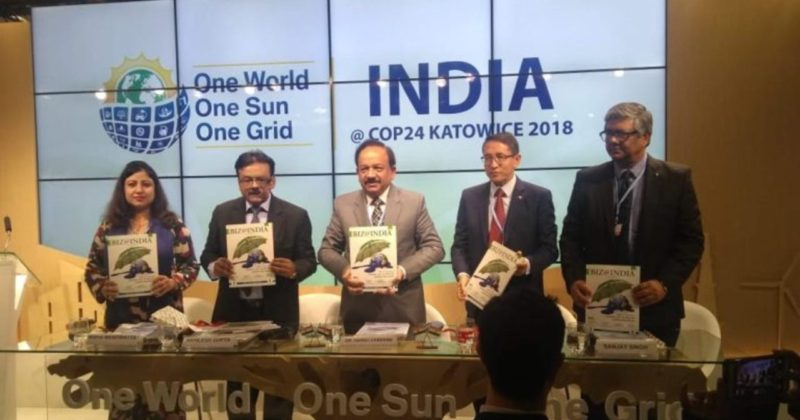 "India's Commitment towards Paris Climate Agreement ""Biz@India"" Special issue Launched at COP24"