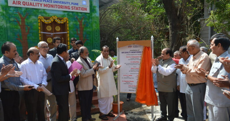 Launch of Air Quality Monitoring Station and App developed by Students.